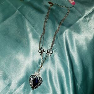 Betsey Johnson Blue Heart Necklace